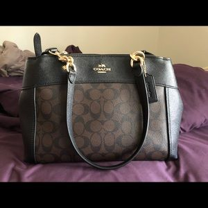 Coach Black and Brown Crossbody / Arm Handle Bag